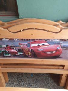 camas de pino infatiles de cars