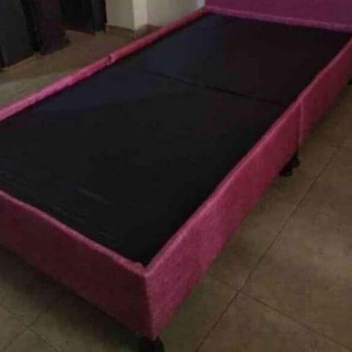 Base cama sencilla en tela